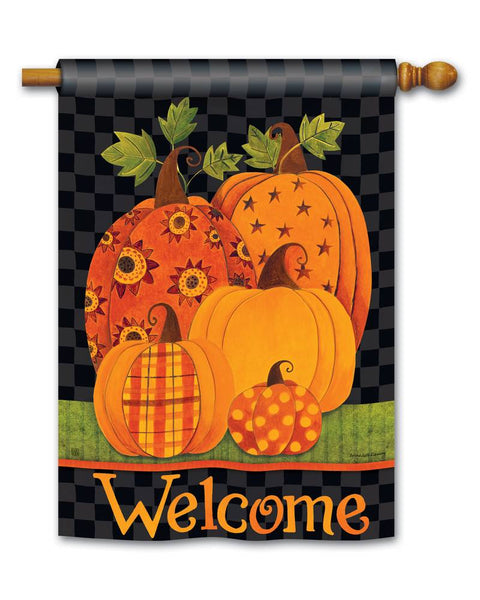 Patterned Pumpkins Standard Flag