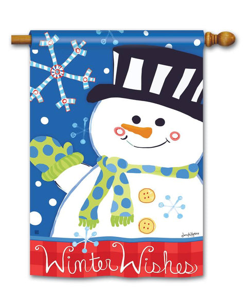 Winter Wishes Standard Flag