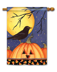 Halloween Crow Standard Flag