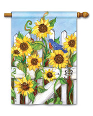 Sunflower Gate Standard Flag