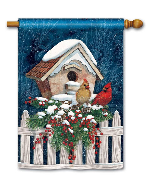 Winter Home Cardinals Standard Flag