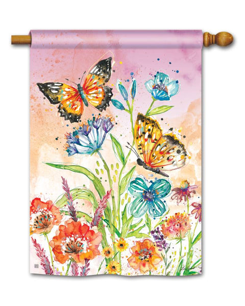Butterfly Blossoms Standard Flag