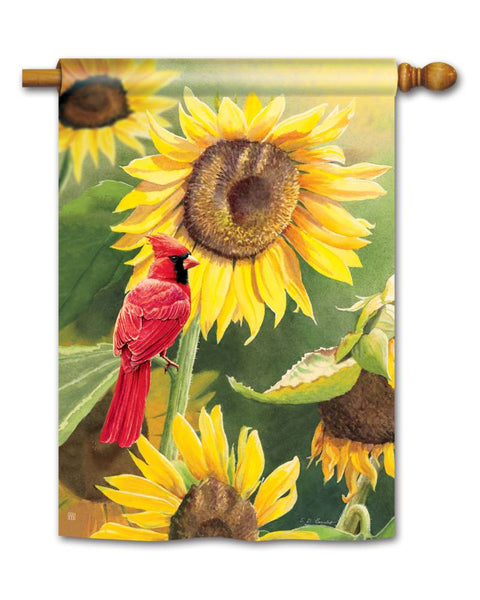 Sunflower Cardinal Standard Flag