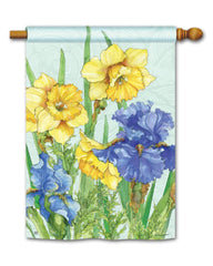 Daffodils and Irises Standard Flag