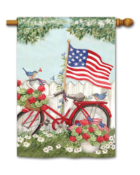 Patriotic Bike Standard Flag