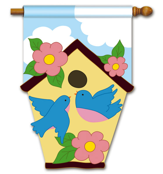 Birdhouse Applique SF