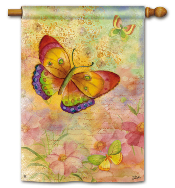 Colorful Butterflies Std Flag