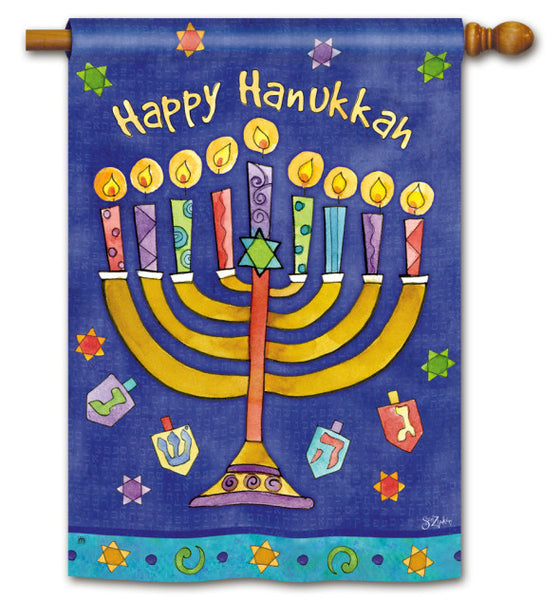 Happy Hanukkah Standard Flag