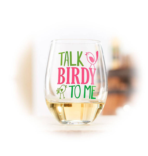 Talk Birdy to Me Wine Glass