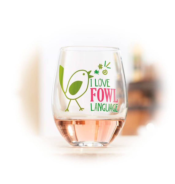 Fowl Language Wine Glass