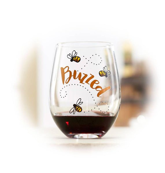 Buzzed Wine Glass