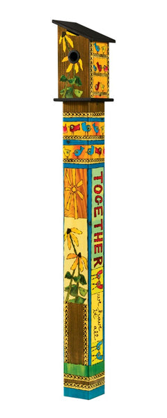 Friends Forever 5' Birdhouse Art Pole