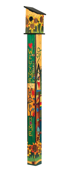 Sing Out Loud 6' Birdhouse Art Pole