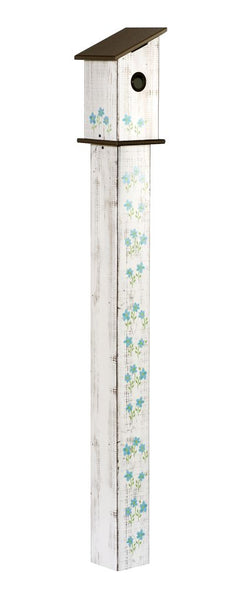Cottage Garden 5' Birdhouse Art Pole