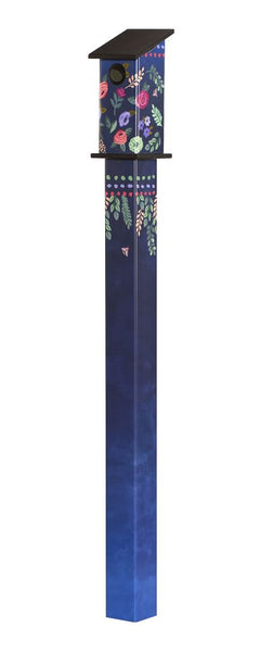 Boho Flowers 5' Bluebird House Art Pole