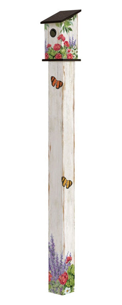 Summer Garden 6' Birdhouse Art Pole