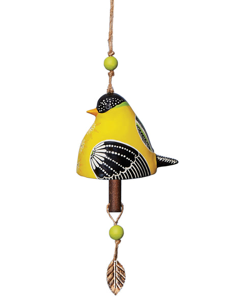 Goldfinch Ceramic Bell