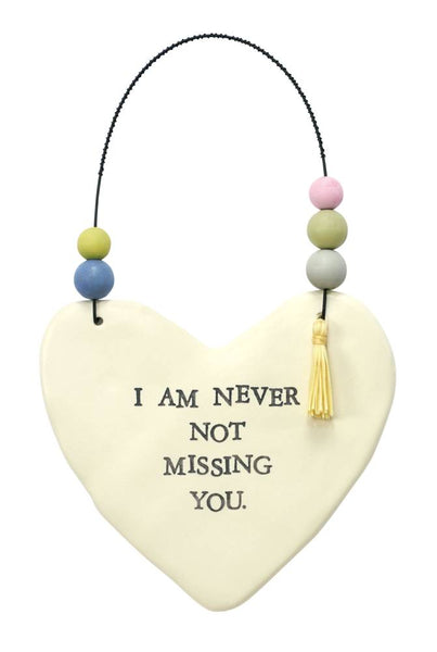 Missing You Hanging Heart