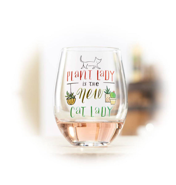 New Cat Lady Wine Glass