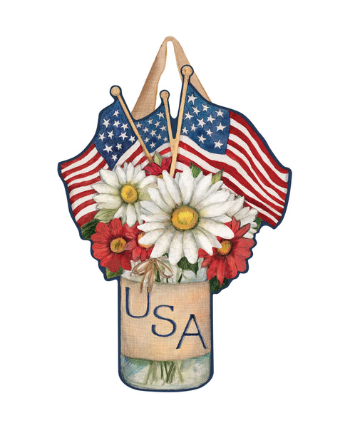 USA Mason Jar Door Décor