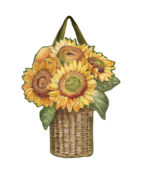 Farmhouse Sunflower Door Décor