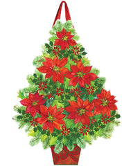 Poinsettia Tree Door Décor