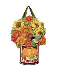 Pumpkin Can Flowers Door Décor