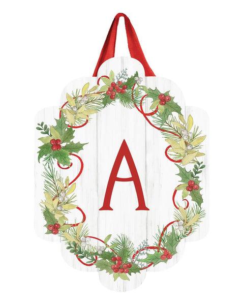 Winterberry Monogram A Door Décor