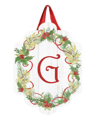 Winterberry Monogram G Door Décor