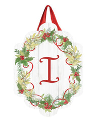 Winterberry Monogram I Door Décor