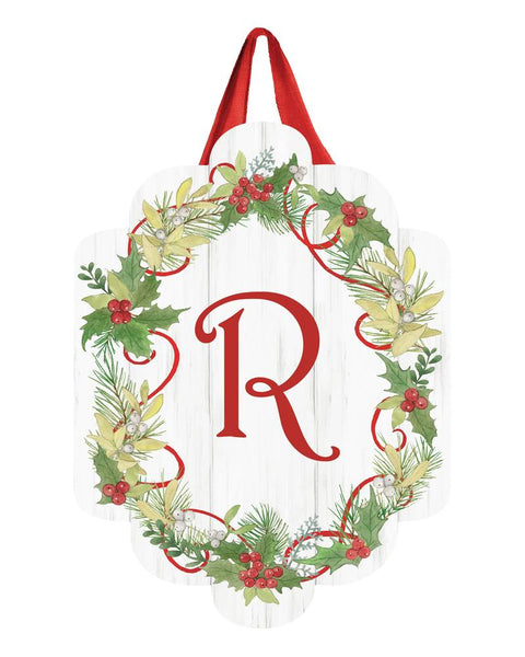 Winterberry Monogram R Door Décor