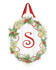 Winterberry Monogram S Door Décor