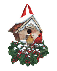 Winter Home Cardinals Door Décor