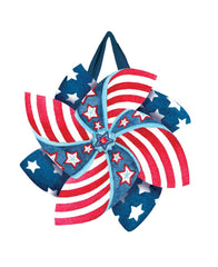 Patriotic Pinwheels Door Décor