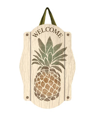 Rustic Pineapple Door Décor