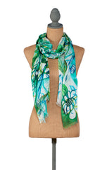 Earth-Floral Scarf