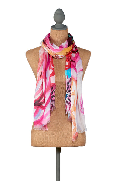 Fire-Floral Scarf