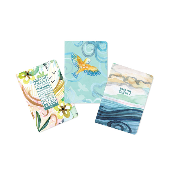 Air-Breathe Deeply Journals - Set of 3