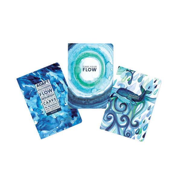 Water-Flow Journals - Set of 3