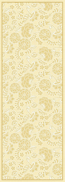 Porcelain Yellow Floor Flair - 2.5 x 7
