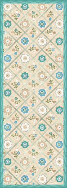 Quilted Floral - Neutral Floor Flair - 2.5 x 7