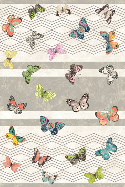Eden Butterflies Floor Flair - 4 x 6