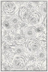 Etched Bouquet Floor Flair - 4 x 6