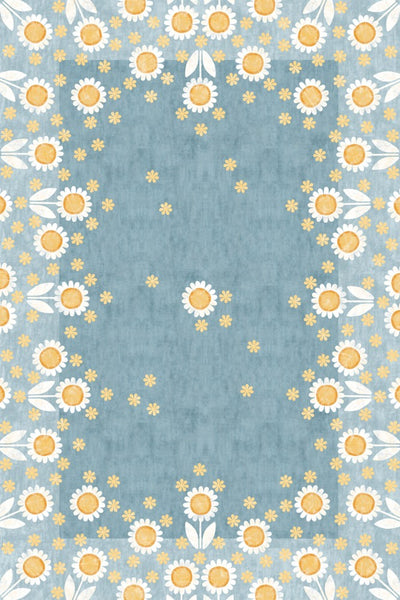 Mod Sunflowers Floor Flair - 4 x 6