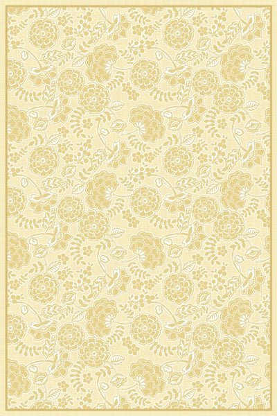 Porcelain Yellow Floor Flair - 4 x 6