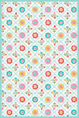 Quilted Floral - Multi Floor Flair - 4 x 6