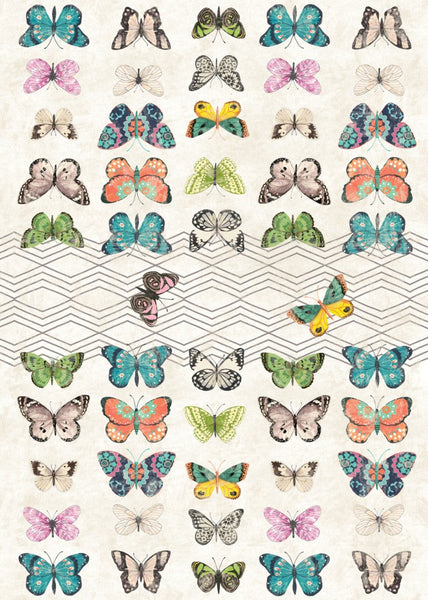 Eden Butterflies Floor Flair - 5 x 7