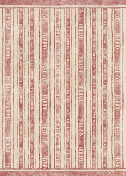 Feed Sack Stripe - Red Floor Flair - 5 x 7