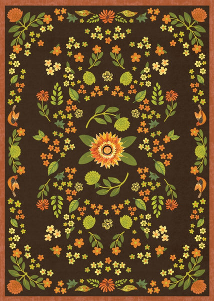 Indian Summer Floral Floor Flair - 5 x 7