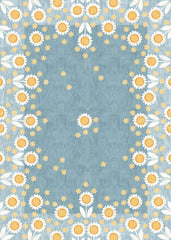 Mod Sunflowers Floor Flair - 5 x 7
